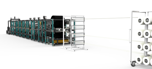 Machines for fibre-reinforced thermoplastic tapes
