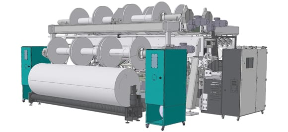 Tricot machines with weft insertion