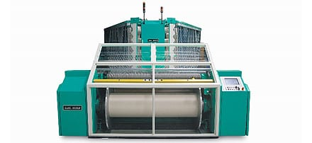 Beaming machines and direct warpers for spun yarns