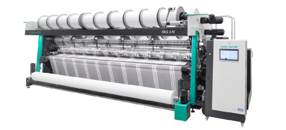 Tricot machines with 3 guide bars